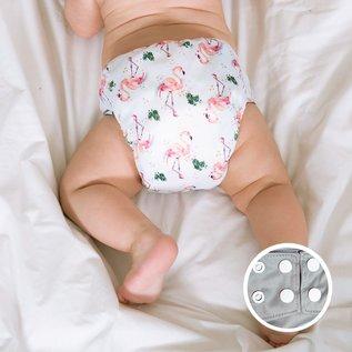 La Petite Ourse One-Size Snap Pocket Diaper, Flamingo