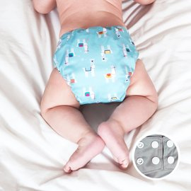 La Petite Ourse One-Size Snap Pocket Diaper, Llama