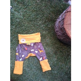 Forest Friends, Blue-Grey Grow With Me Pants 6mo-3y