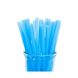 Blue Silicone Straw, Colibri
