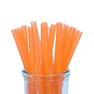 Orange Silicone Straw, Colibri