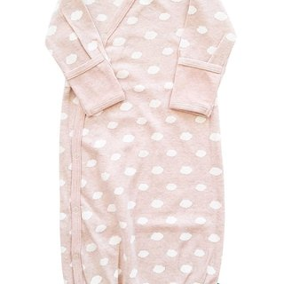 Little Clouds Pink Organic Kimono Gown
