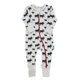 Parade Organics Grey Moose Organic 2-Way Zippered Romper
