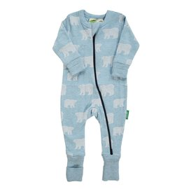 Parade Organics Blue Bears Organic 2-Way Zippered Romper