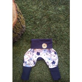 Frosty Flowers Grow With Me Pants, Blue, 6mo-3y