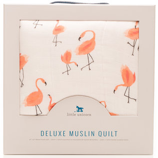 Little Unicorn Deluxe Pink Ladies Bamboo Muslin Quilt