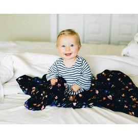 Little Unicorn Floral Stitch Cotton Muslin Swaddle