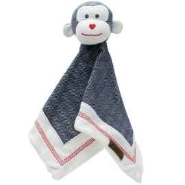 Juddlies Organic Lake Blue Cottage Lovey, Monkey
