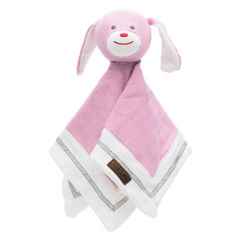Juddlies Organic Sunset Pink Cottage Lovey, Rabbit