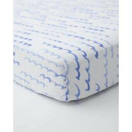 Little Unicorn High Tide Cotton Muslin Crib Sheet