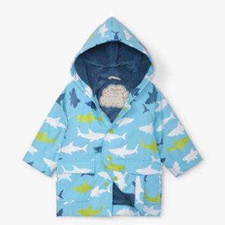 Great White Sharks Baby Raincoat