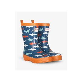 Hatley Great White Sharks Shiny Rain Boots