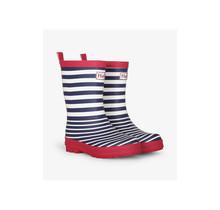 Nautical Stripe Matte Rain Boots