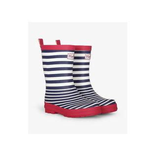 Hatley Nautical Stripe Matte Rain Boots