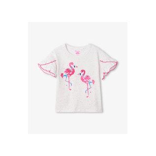 Hatley Fancy Flamingo Flutter Sleeve Tee