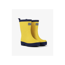 Hatley Yellow & Navy Matte Rain Boots