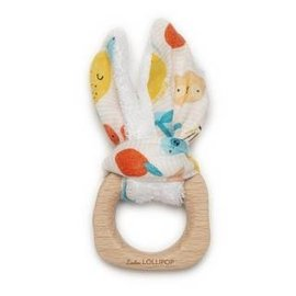 Loulou Lollipop Cutie Fruits Bunny Ear Teething Ring