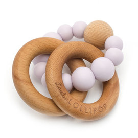 Loulou Lollipop Lilac Bubble Silicone & Wood Teether
