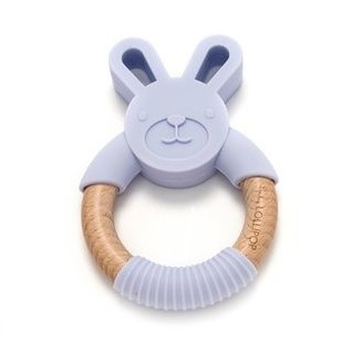 Loulou Lollipop Lilac Bunny Silicone & Wood Teether