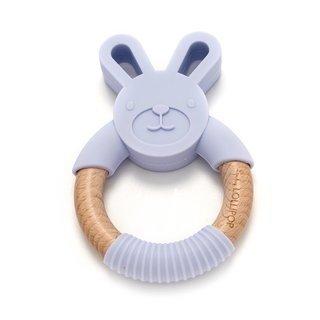Lilac Bunny Silicone & Wood Teether