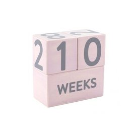Pearhead Pink Wooden Age Block Set
