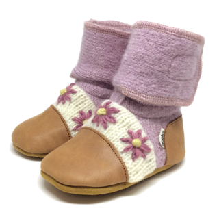 Lilac Flower Nooks Booties