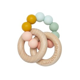 Loulou Lollipop Rainbow Bubble Silicone & Wood Teether