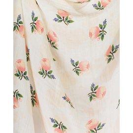 Little Unicorn Watercolour Roses Cotton Muslin Swaddle