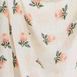 Watercolour Roses Cotton Muslin Swaddle