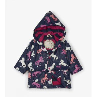 Hatley Colour Changing Playful Horses Baby Raincoat