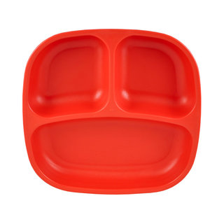 Red Re-Play Divided Plate