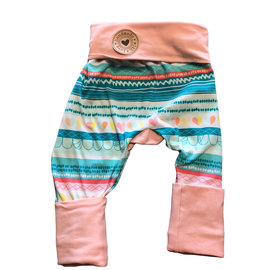 Saltwater Taffy Peach Grow With Me Pants 6mo-3y