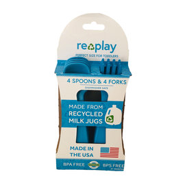 Re-Play Sky Blue Re-Play Utensils, 8 pk