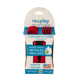 Re-Play Red Re-Play Utensils, 8 pk