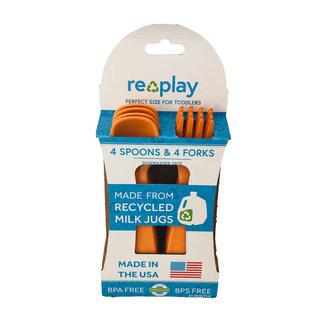 Orange Re-Play Utensils, 8 pk