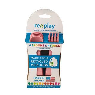 Baby Pink Re-Play Utensils, 8 pk