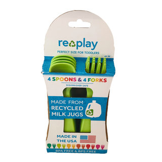 Green Re-Play Utensils, 8 pk