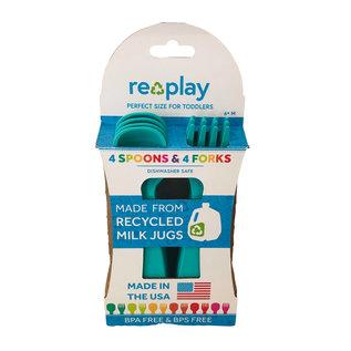 Re-Play Aqua Re-Play Utensils, 8 pk