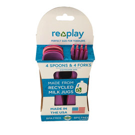 Re-Play Baby Pink, Bright Pink & Purple Re-Play Utensils, 8 pk