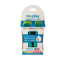 Aqua, Green & Yellow Re-Play Utensils, 8 pk