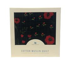 Dark Summer Poppy Cotton Muslin Quilt