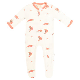 Kyte Baby Red Panda Zippered Footie