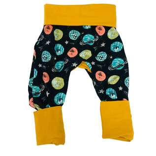 Jberg Planets/Mustard Grow-With-Me Pants