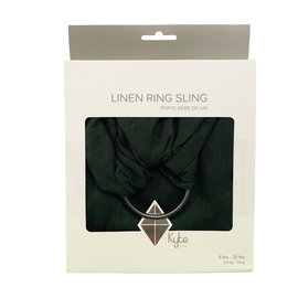 Kyte Baby Kyte Ring Sling, Evergreen w Charcoal Rings