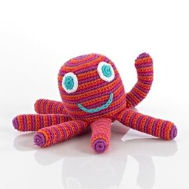 Pebble Pink Happy Octopus Rattle, Pebble