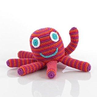 Pebble Pink Happy Octopus Rattle, Pebble