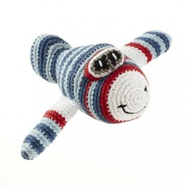 Pebble Blue Red Airplane Rattle, Pebble