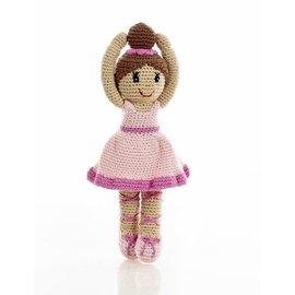Pebble Pink Ballerina Rattle, Pebble