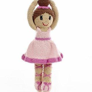 Pink Ballerina Rattle, Pebble
