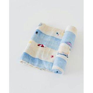 Little Unicorn Tan Lines Cotton Muslin Swaddle